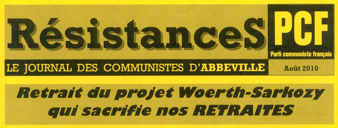 resistances aout 2010